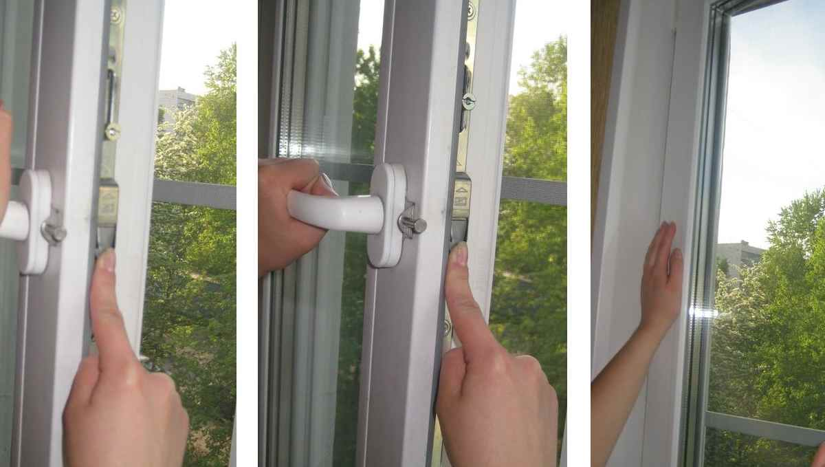 окна не закрываются Конструкция висит на петле