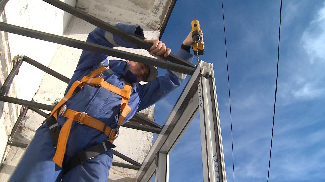 Застекление балкона - монтаж