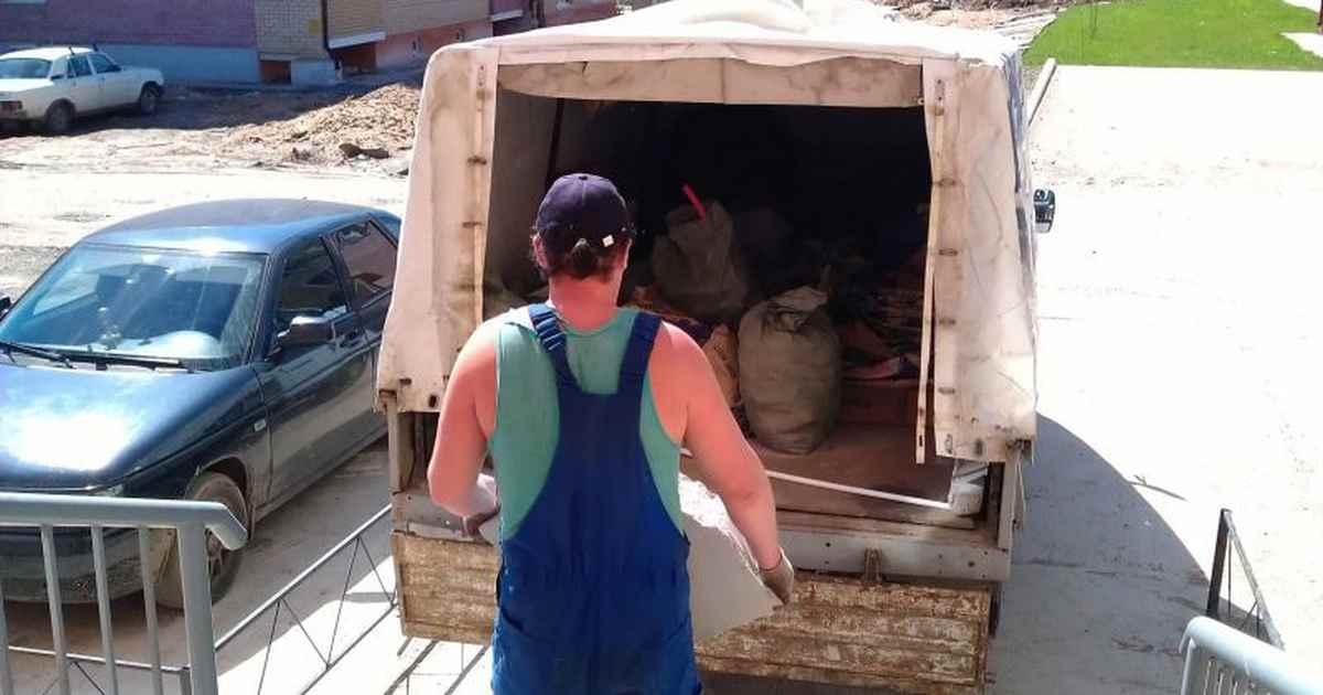 Как подготовится к установке окон - вывоз мусора