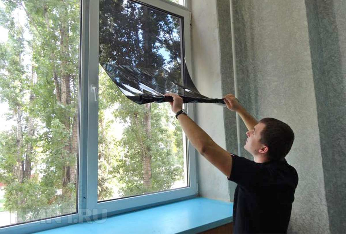 Пластиковые окна - защита от жары: тонировка