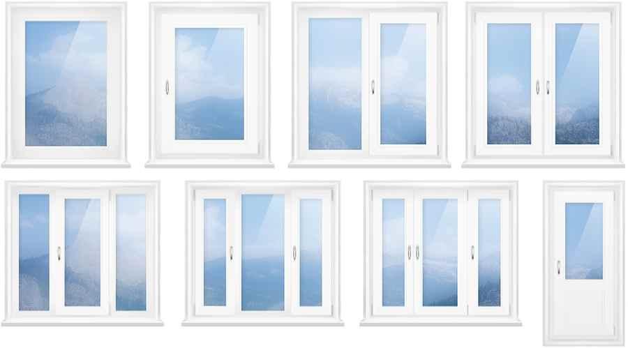 Конфигурация открывания пластиковых окон по количеству створок