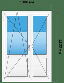 Пластиковые двери Штульповая
