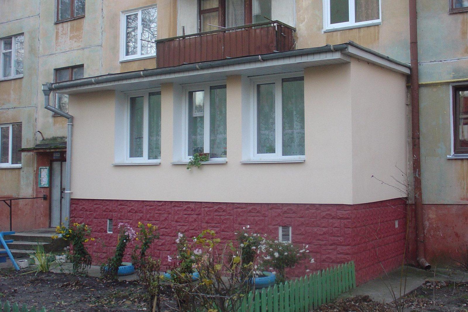 Балкон на капитальном фундаменте
