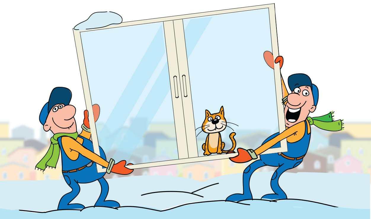 Особенности зимнего монтажа металлопластиковых окон