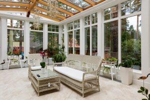 Окна для зимнего сада готовь летом